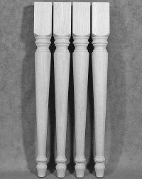 Traditionelle, gedrechselte Tischbeine Holz